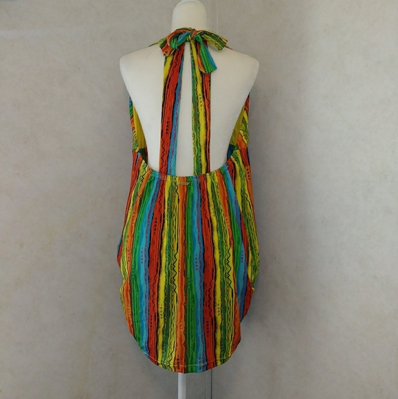 Coogi Rainbow Color Mini Dress Plus size 1X